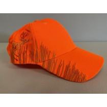 Fluorescent Orange Cap w/Deer Embroidery