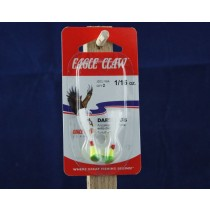 Eagle Claw Shad Darts - 1/16oz ~ Chartreuse / Lime