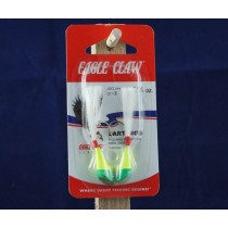Eagle Claw Shad Darts - 1/4oz ~ Chartreuse / Lime