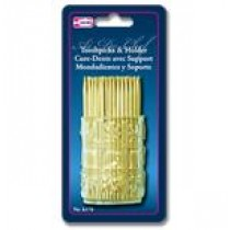 Wooden Toothpicks w/Holder