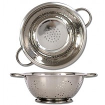 "Stainless Steel Colander ~ 9.5"" Diameter"