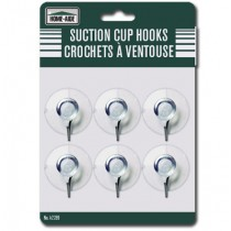 Suction Cup Hooks - Small ~ 6 per pack