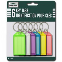 Key Tags ~ 6 per pack