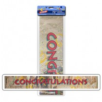 "Foil Banner - 6' ~ ""Congratulations"""