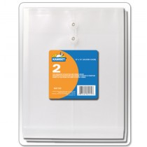 """Poly Clear Envelopes 8"""" x 11"""" - button & string closure ~ 2 per pack"""