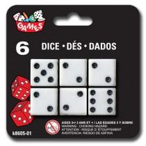 """Dice - 0.5"""" x 0.5"""" (6cm) ~ 6 per pack"""