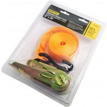 "Ratchet Straps - Fluorescent Orange ~ 2"" x 20'"