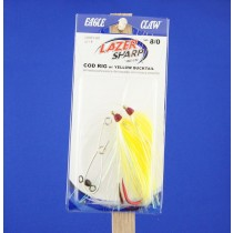 Eagle Claw Cod Rig w/Yellow Bucktail & 8/0 Hook