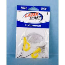 Eagle Claw Double Hook Flounder Rig w/Yellow Grub & 3 Way Swivel