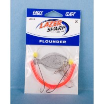 Eagle Claw Double Hook Flounder Rig w/Corn Bead, Pink Tubing & 3 Way Swivel