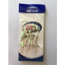 Eagle Claw Luminous Wing Sabiki Rig, 6/string ~ Fluorescent Green with Flash