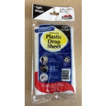 Bennett Plastic Drop Sheet - Light Weight ~ 8' x 12'