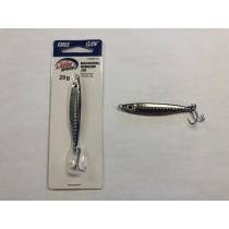 Eagle Claw Mackerel Minnow Jig, 20 gram ~ Black Silver Prism