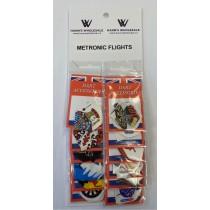 Metronic Assorted Flights ~ 12 per card