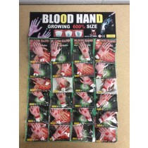 Halloween Growing Bloody Hand ~ 24 per display
