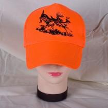 Fl. Orange Ball Cap w/Deer