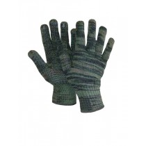 Lined Camo Knitted Gloves with PVC Dots