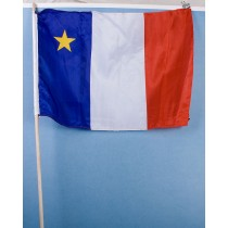 """Acadian Flag w/Stick ~ 12"""" x 18"""""""