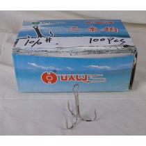 Nickel Treble Hooks - Size 10/0 ~ 100 per box