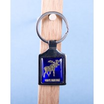 Cape Breton Moose Keychain w/Glossy Blue Background