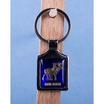 Nova Scotia Deer Keychain w/Glossy Blue Background