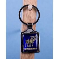 New Brunswick Deer Keychain w/Glossy Blue Background