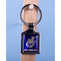 Prince Edward Island Lobster Keychain w/Glossy Blue  Background