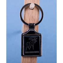 New Brunswick Moose Keychain w/Black Background