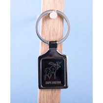 Cape Breton Moose Keychain w/Black Background