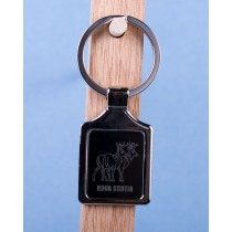 Nova Scotia Deer Keychain w/Black Background