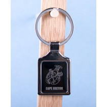 Cape Breton Lobster Keychain w/Black Background