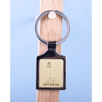 Cape Breton Lighthouse Keychain w/Gold Background