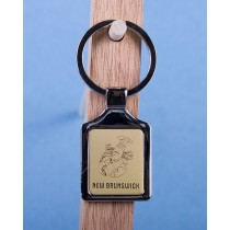 New Brunswick Lobster Keychain w/Gold Background