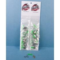 Mr Fly Minnow Rig w/Adjustable Stinger Hook - Green Beads