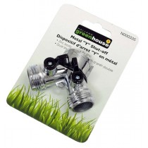 Zinc 2 Way Shut-Off with Switch for Garden Hoses