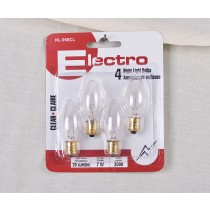 Night Light Bulbs - 4 per pack ~ Clear