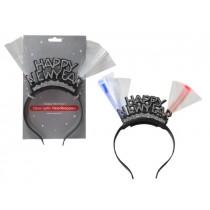 New Year's LED Fibre Optic Happy New Year Glitter Headband