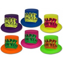 New Year's Neon Top Hat