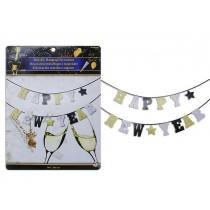 New Year's Metallic/Glitter Banner ~ 12'
