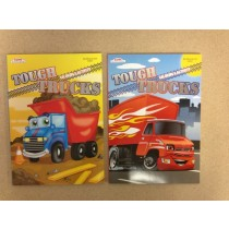 Tough Trucks Coloring & Activity Book