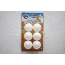 Ping Pong Balls - White ~ 6 per pack
