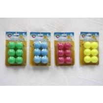 Ping Pong Balls - Bright Colors ~ 6 per pack