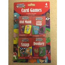 Classic Kid's Card Games ~ 4 per pack