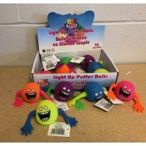 """Light-Up Big Hands Monster Puffer Ball - 3"""" ~ 12 per display"""
