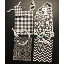 Small Gift Bags ~ Black & White Abstract