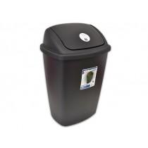 Sterilite Swing-Top Plastic Wastebasket - Black ~ 28 Litre