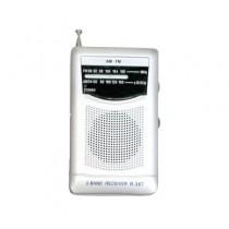 Mini Radio with AM/FM, Telescopic Antenna & Built-In Speaker