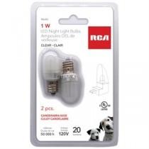 RCA 1W LED Nightlight Bulb - Clear ~ 2 per pack