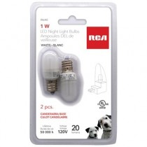 RCA 1W LED Nightlight Bulb - White ~ 2 per pack