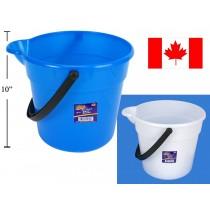 Plastic Bucket w/Spout & Handle ~ 10L